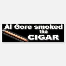 Al Gore Smoked the Cigar Bumper Bumper Sticker