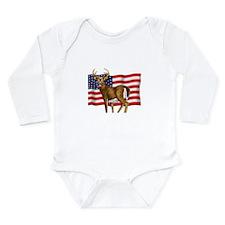 American White Tail Deer Buck Long Sleeve Infant B
