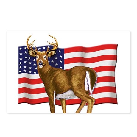 American White Tail Deer Buck Postcards (Package o