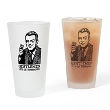 Gentlemen Lets Get Hammered Drinking Glass