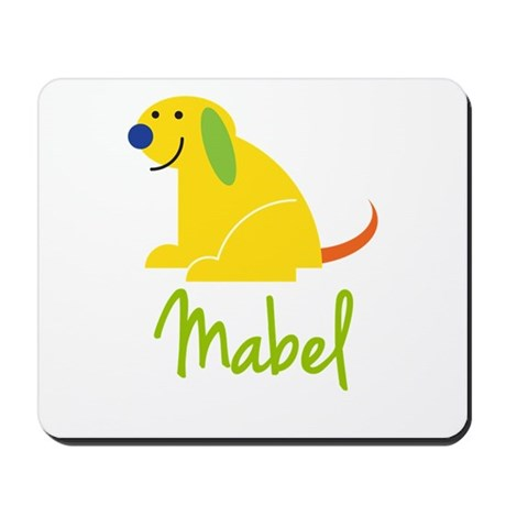 Mabel Loves Puppies Mousepad