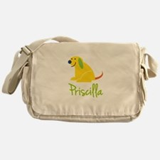 Priscilla Loves Puppies Messenger Bag