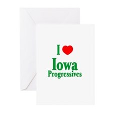 I Love Iowa Progressives Greeting Cards (Package o