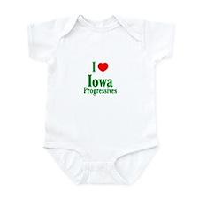 I Love Iowa Progressives Infant Creeper