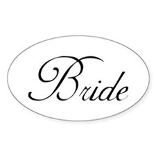Bride's Oval Decal