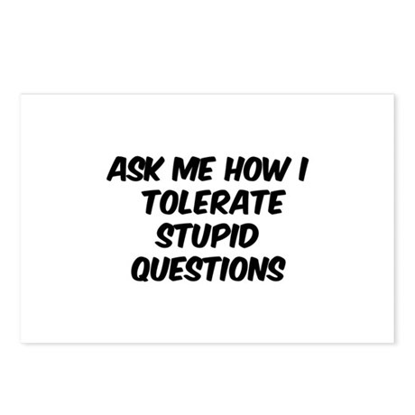 Stupid Questions Postcards (Package of 8)