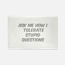 Stupid Questions Rectangle Magnet