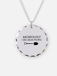 Archeology Necklace Circle Charm