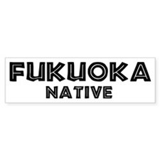 Fukuoka Native Bumper Bumper Sticker