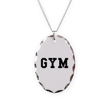 GYM Necklace Oval Charm