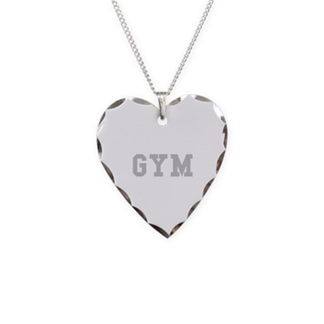 GYM Necklace Heart Charm