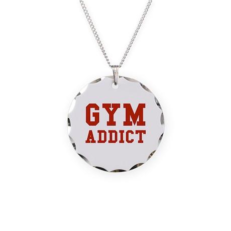 GYM ADDICT Necklace Circle Charm