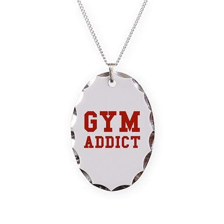 GYM ADDICT Necklace Oval Charm