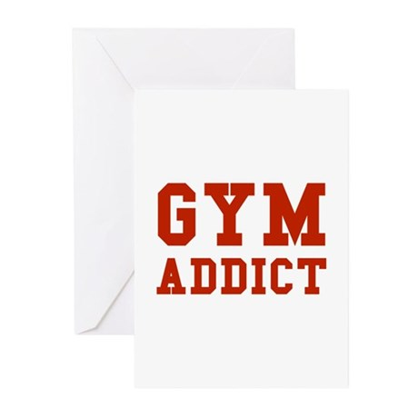 GYM ADDICT Greeting Cards (Pk of 10)