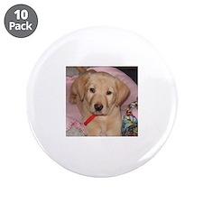 "puppy 3.5"" Button (10 pack)"