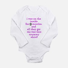 Funny Sayings Long Sleeve Infant Bodysuit