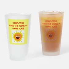 computer Drinking Glass