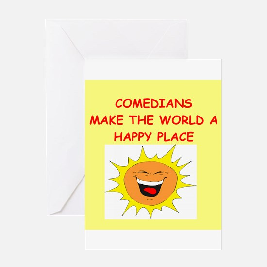 comedians Greeting Card