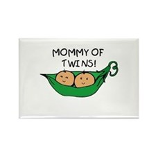 Mommy of Twins Rectangle Magnet