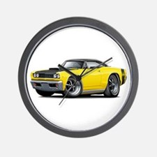 1968 Super Bee Yellow Car Wall Clock