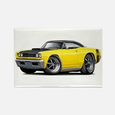 1968 Super Bee Yellow Car Rectangle Magnet