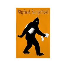 Bigfoot Surprised Rectangle Magnet