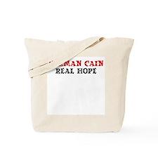 Herman Cain-Real Hope Tote Bag