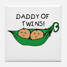 Daddy of Twins Pod Tile Coaster