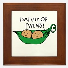Daddy of Twins Pod Framed Tile