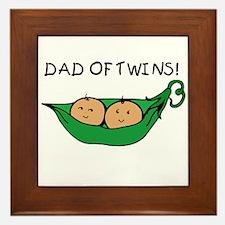 Dad of Twins Pod Framed Tile