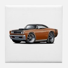 1968 Super Bee Brown Car Tile Coaster