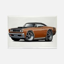 1968 Super Bee Brown Car Rectangle Magnet