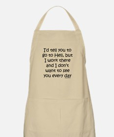 Work in hell funny Apron