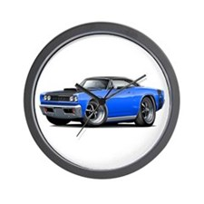 1968 Super Bee Blue-Black Car Wall Clock