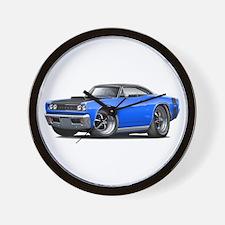 1968 Super Bee Blue-Black Car Wall Clock