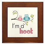 I'm A Hoot Framed Tile