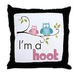 I'm A Hoot Throw Pillow