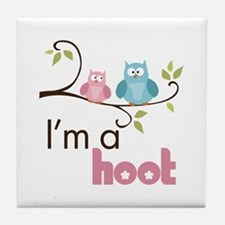I'm A Hoot Tile Coaster