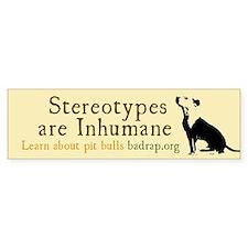 stereotypes Bumper Sticker