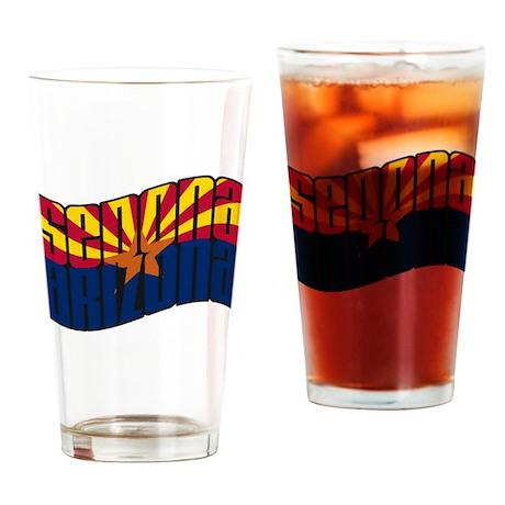 Sedona AZ Flag Drinking Glass