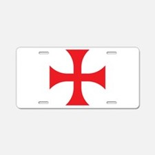 Knights Templar Aluminum License Plate