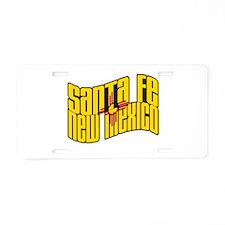 Santa Fe NM Flag Aluminum License Plate