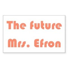 The Future Mrs. Efron Rectangle Decal