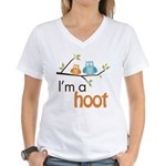 I'm A Hoot Women's V-Neck T-Shirt