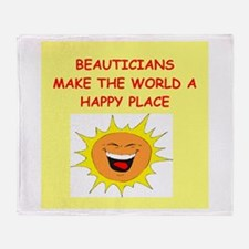 beautician Throw Blanket