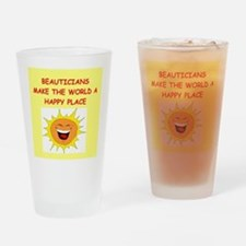 beautician Drinking Glass