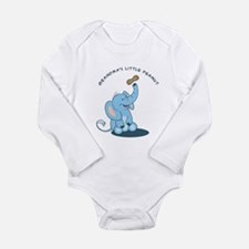 Grandma's Little Peanut - blue Long Sleeve Infant