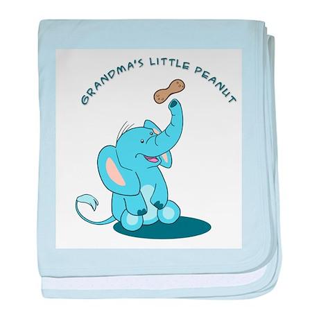 Grandma's Little Peanut - blue baby blanket