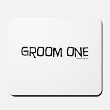 Groom one funny wedding Mousepad