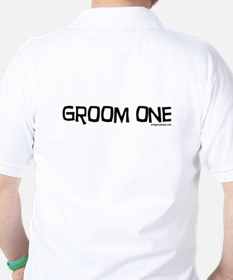 Groom one funny wedding Golf Shirt